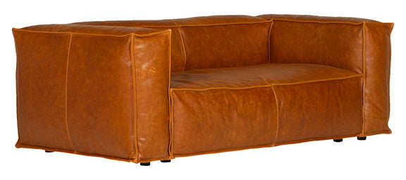 Mylounge Leather Loveseat, Cinnamon - Image 3