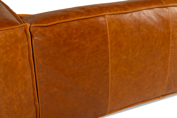 Mylounge Leather Loveseat, Cinnamon - Image 8