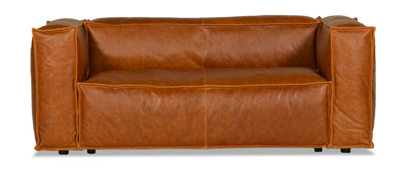 Mylounge Leather Loveseat, Cinnamon - Image 1