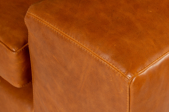 Daydream Leather Left Sectional, Cinnamon - Image 5