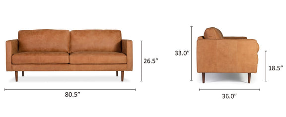 modern comfortable sofa brown leather couch