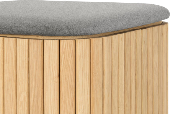 Easy Edge Stool, White Oak/Grey Felt - Image 5