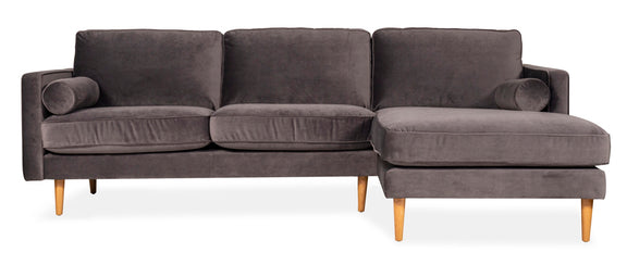 Movie Night 5-Piece Modular Sectional, Light Pebble