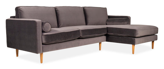 Unwind Sectional Right, Smoky - Image 2