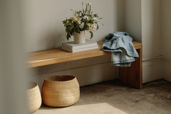 (PRE-ORDER) Form Bench, White Oak - Image 2