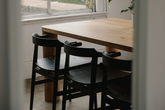 Hiro Dining Chair Wood Seat, Black Ash - Image 2