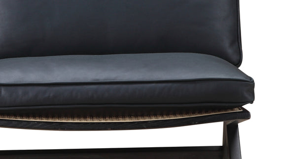 Kyoto Lounge Chair, Black Ash/Black Leather - Image 7