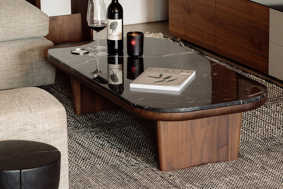 Lay Low Coffee Table, Nero/Walnut - Image 2