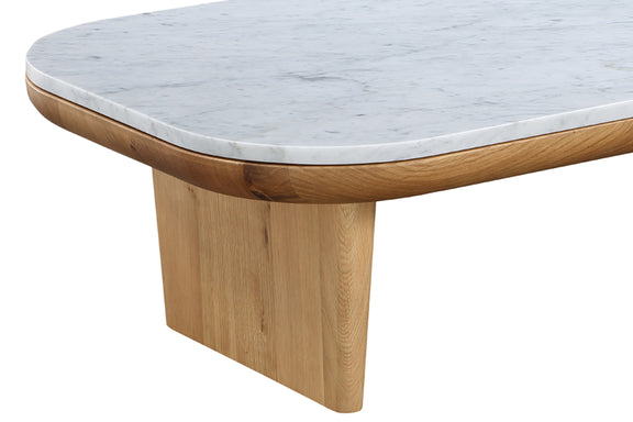 Lay Low Coffee Table, Carrara/Oak - Image 6