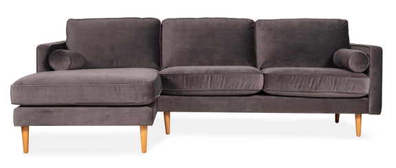 Unwind Sectional Left, Smoky - Image 1