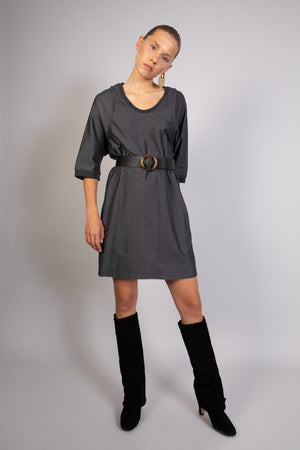 TASTY black grey dress - heroic-online
