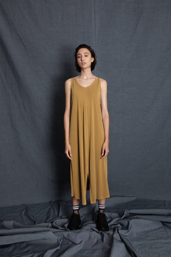 Sweet mustard dress - heroic-online