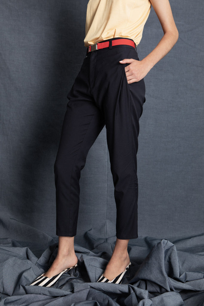Taper navy pants - heroic-online