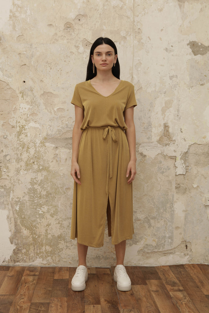 GOODIES Dress - mustard - heroic-online