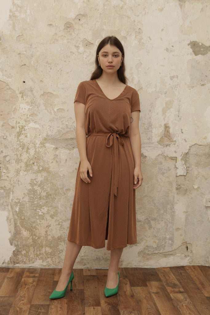 GOODIES Dress - camel - heroic-online