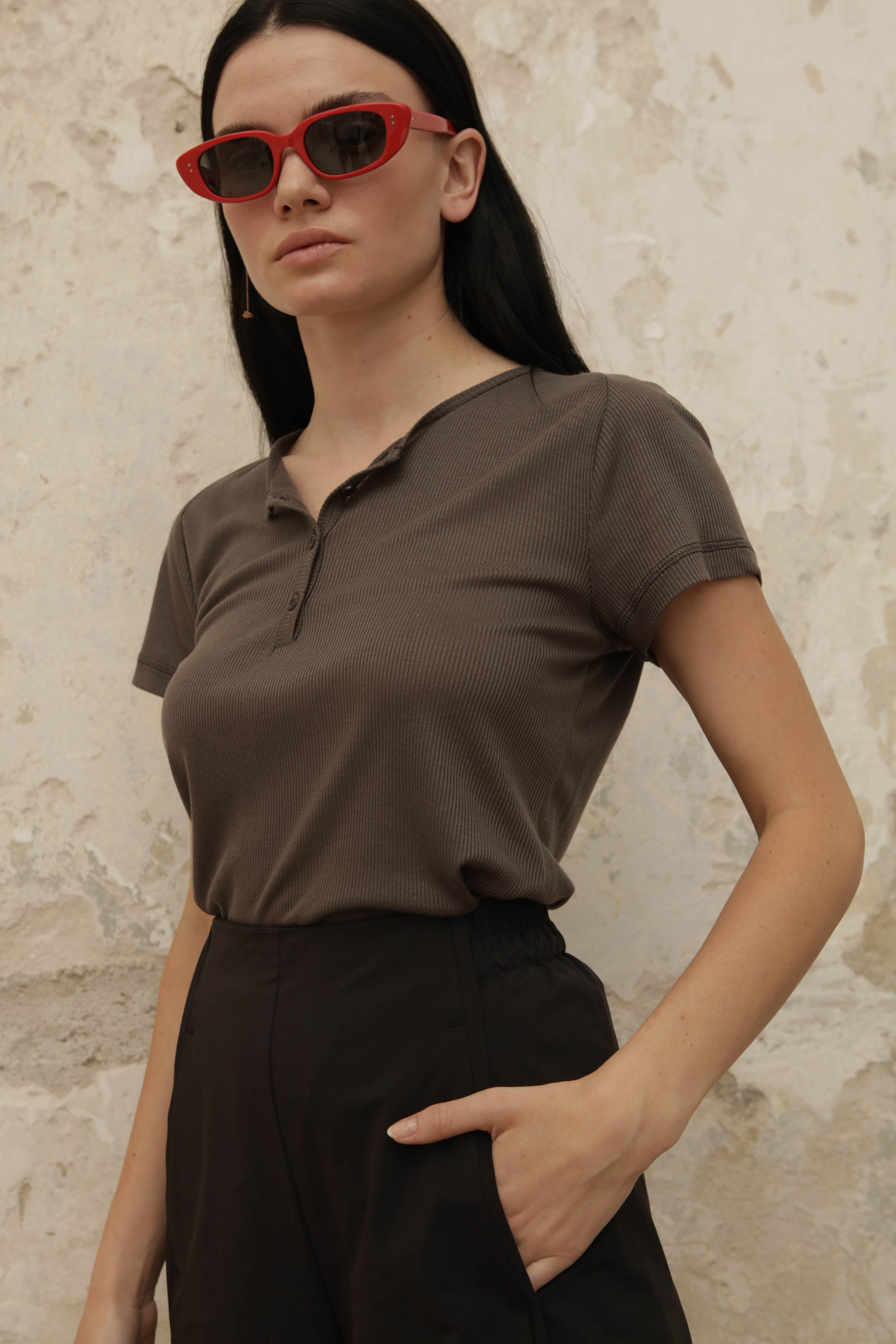 MOBY Top - olive gray - heroic-online