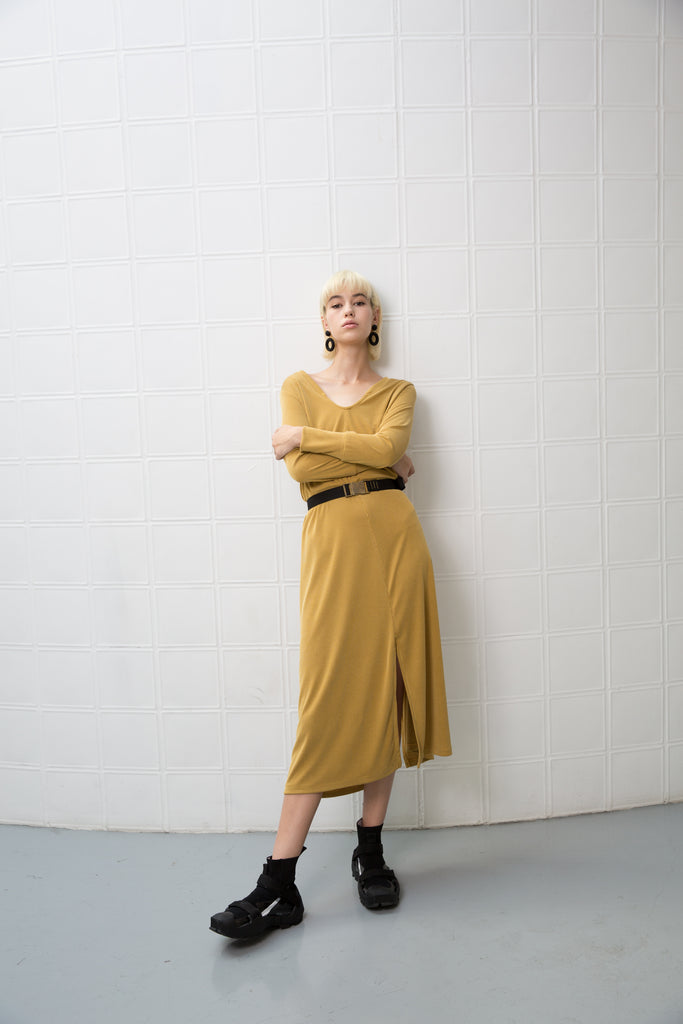 GOODIES Dress - mustard yellow