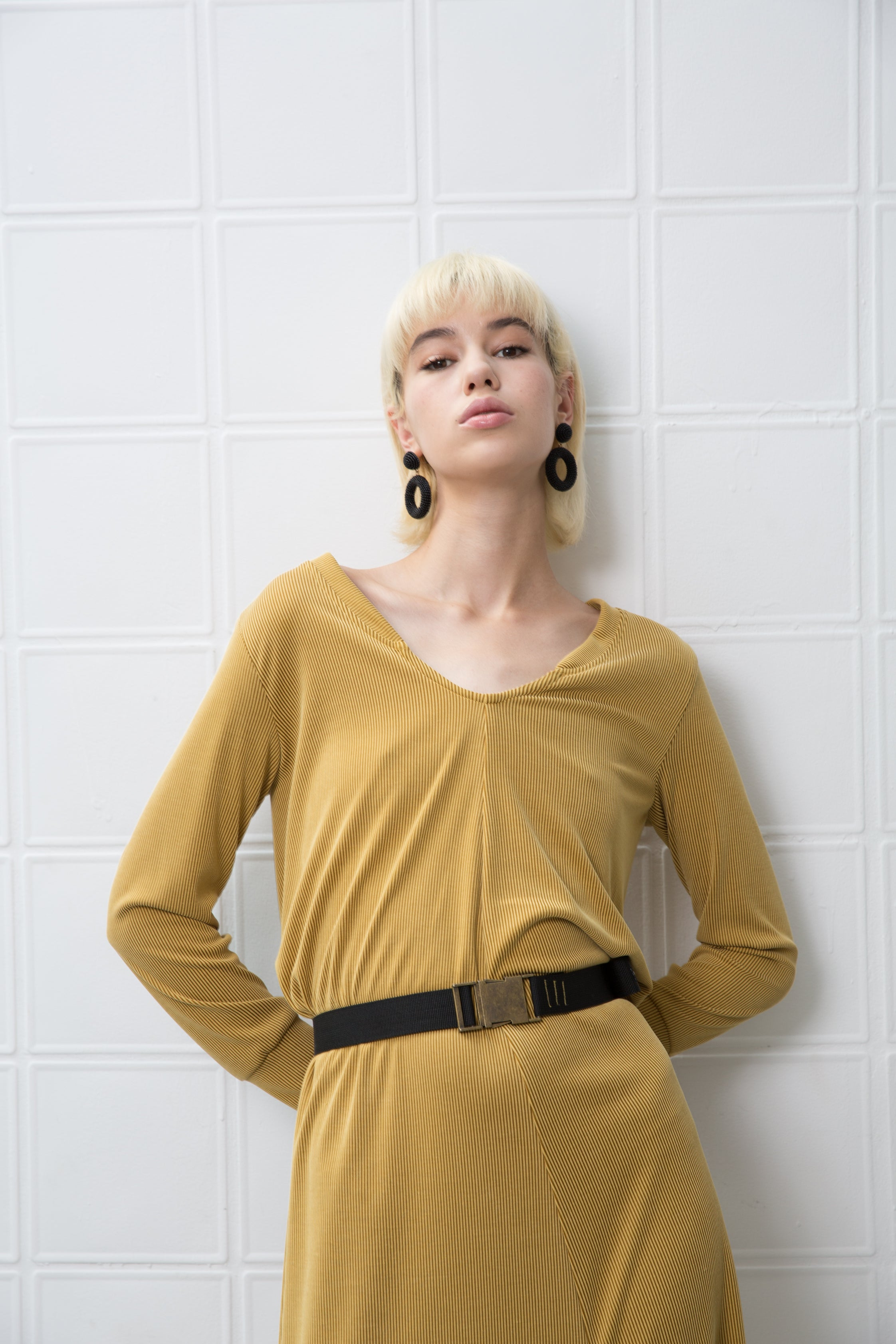GOODIES Dress - mustard yellow - heroic-online