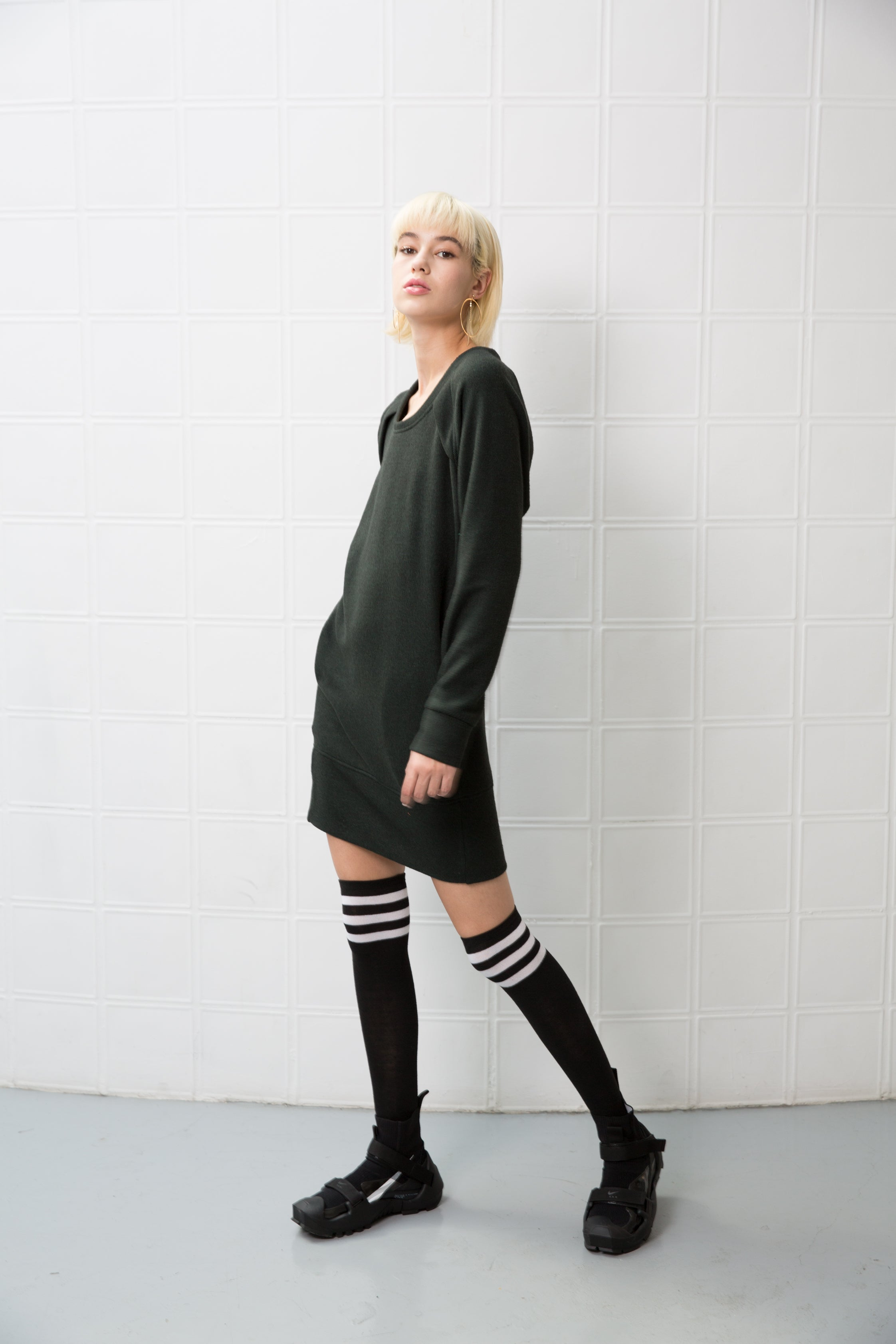 CLARIS Dress - dark green