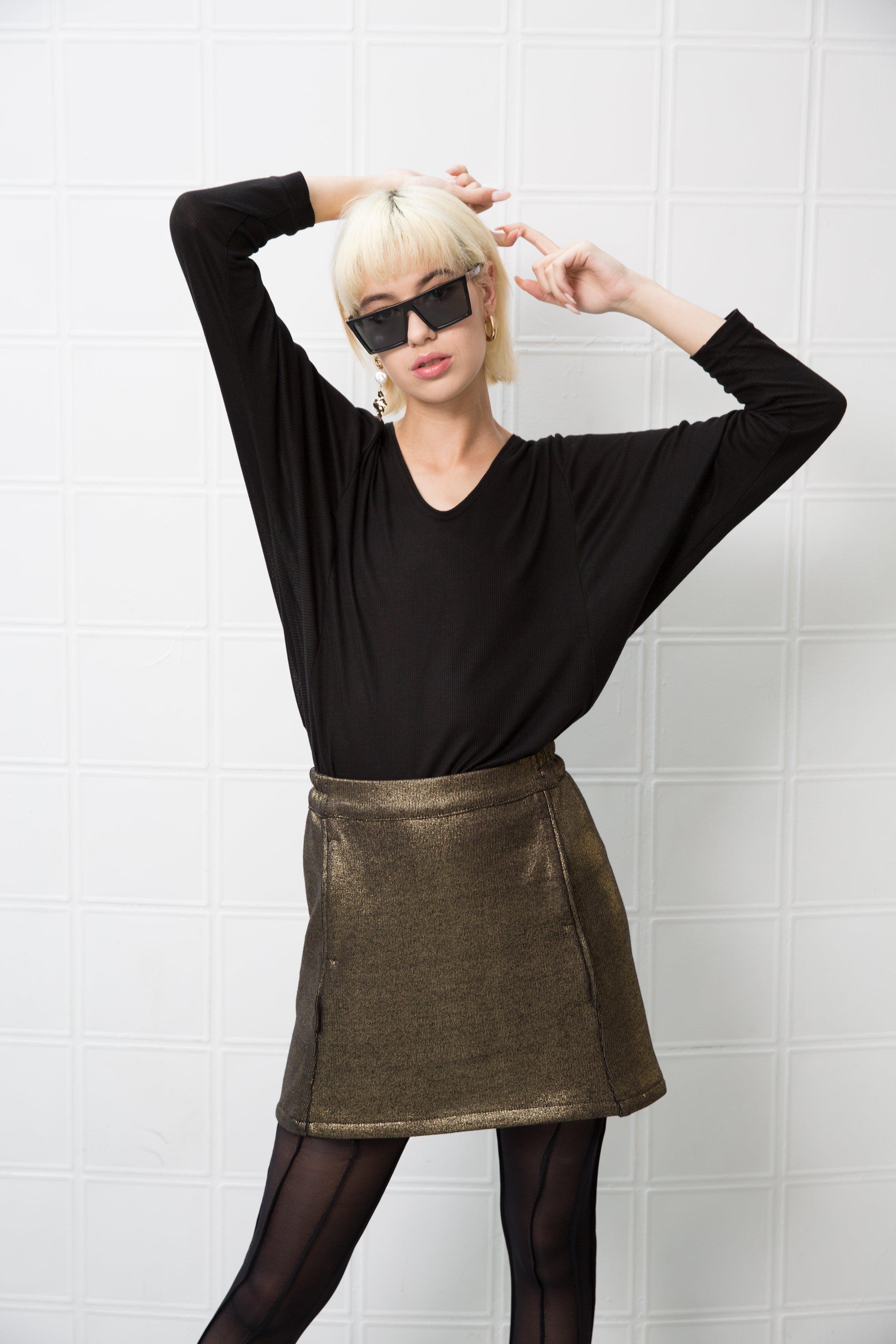 KATY Skirt - shiny gold - heroic-online