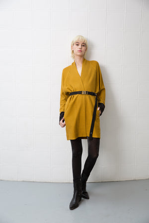 PERRY Cardigan - mustard yellow
