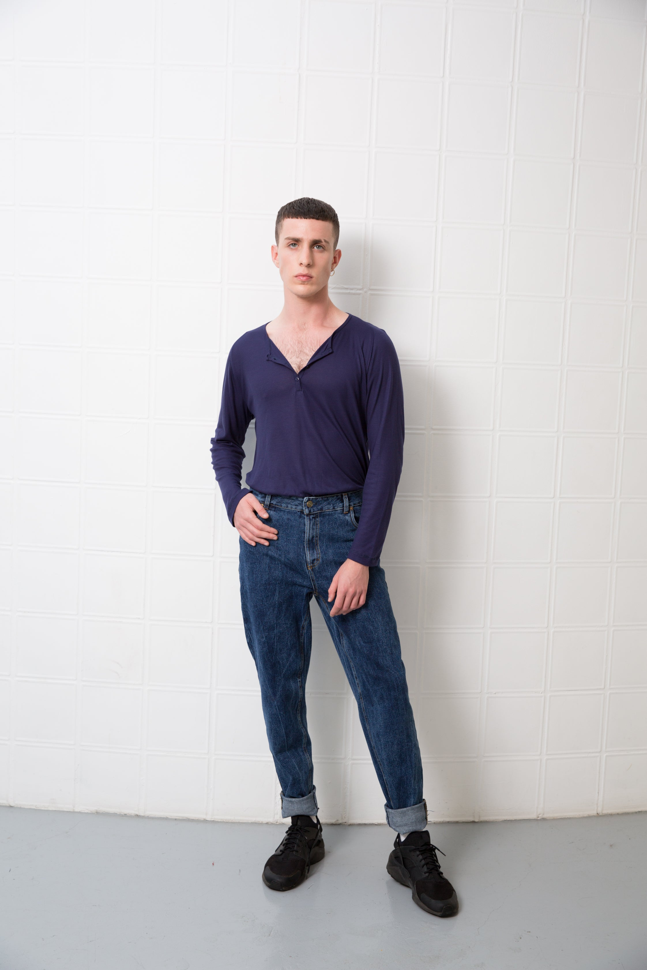 MOBY Top - dark purple