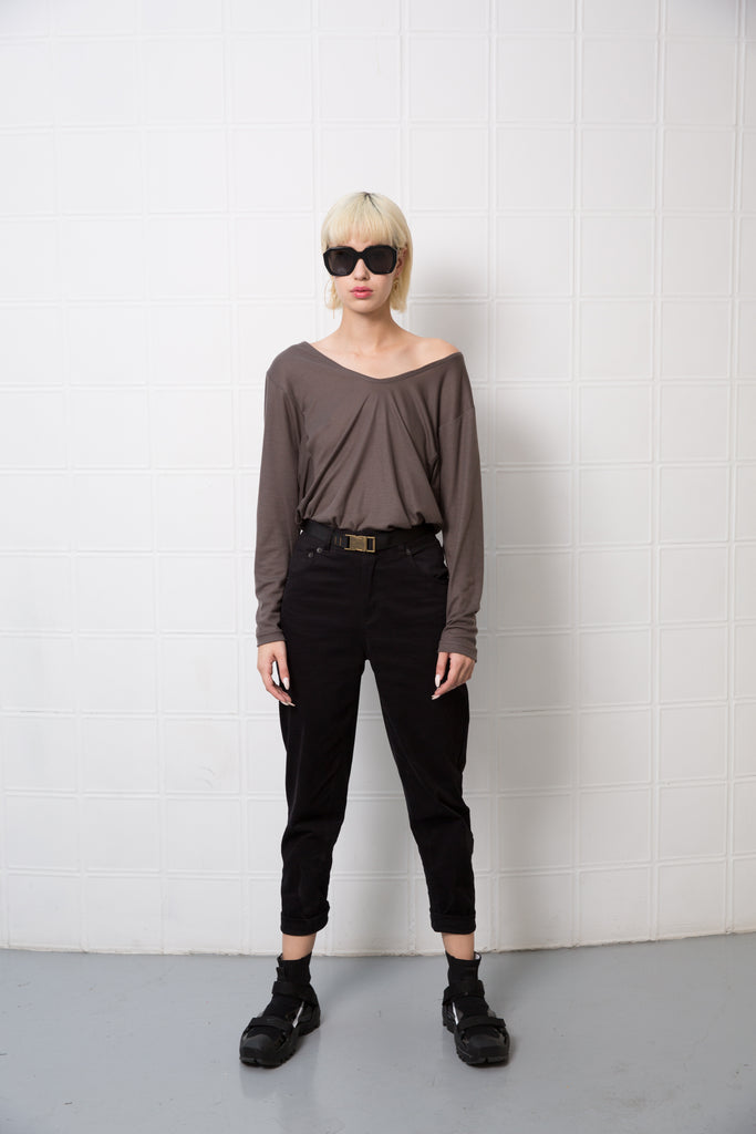 EMILY TOP - olive grey