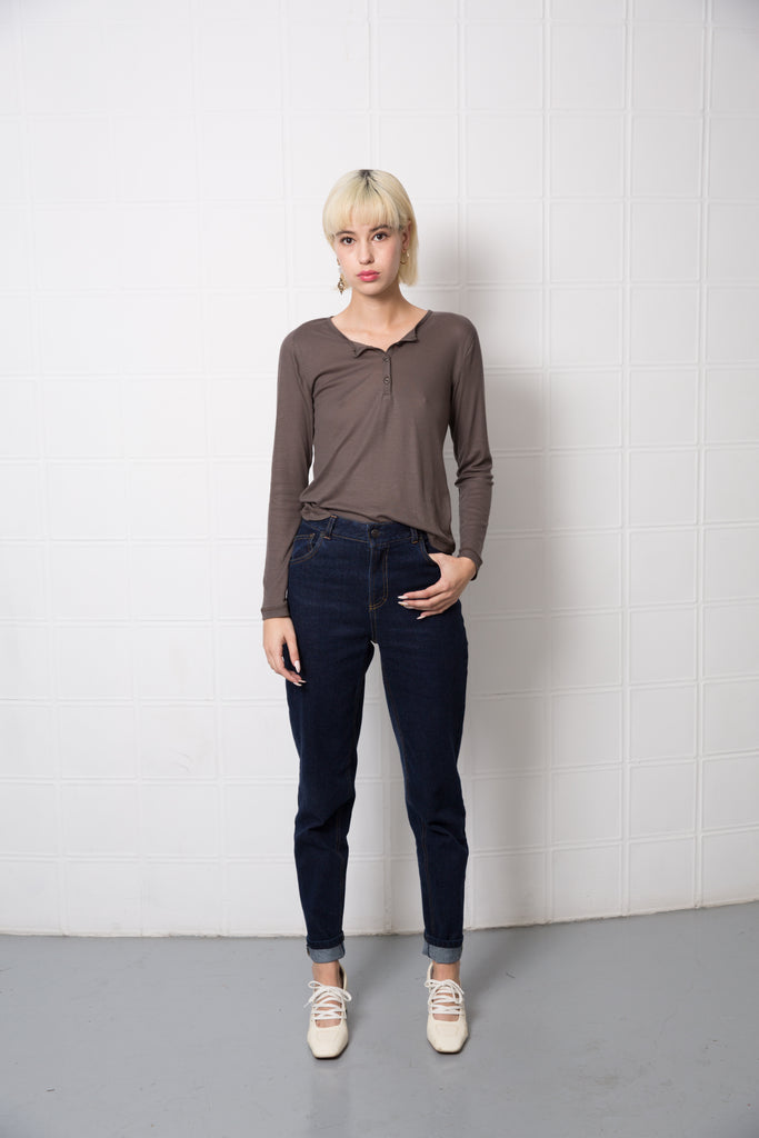MOBY Top - olive grey
