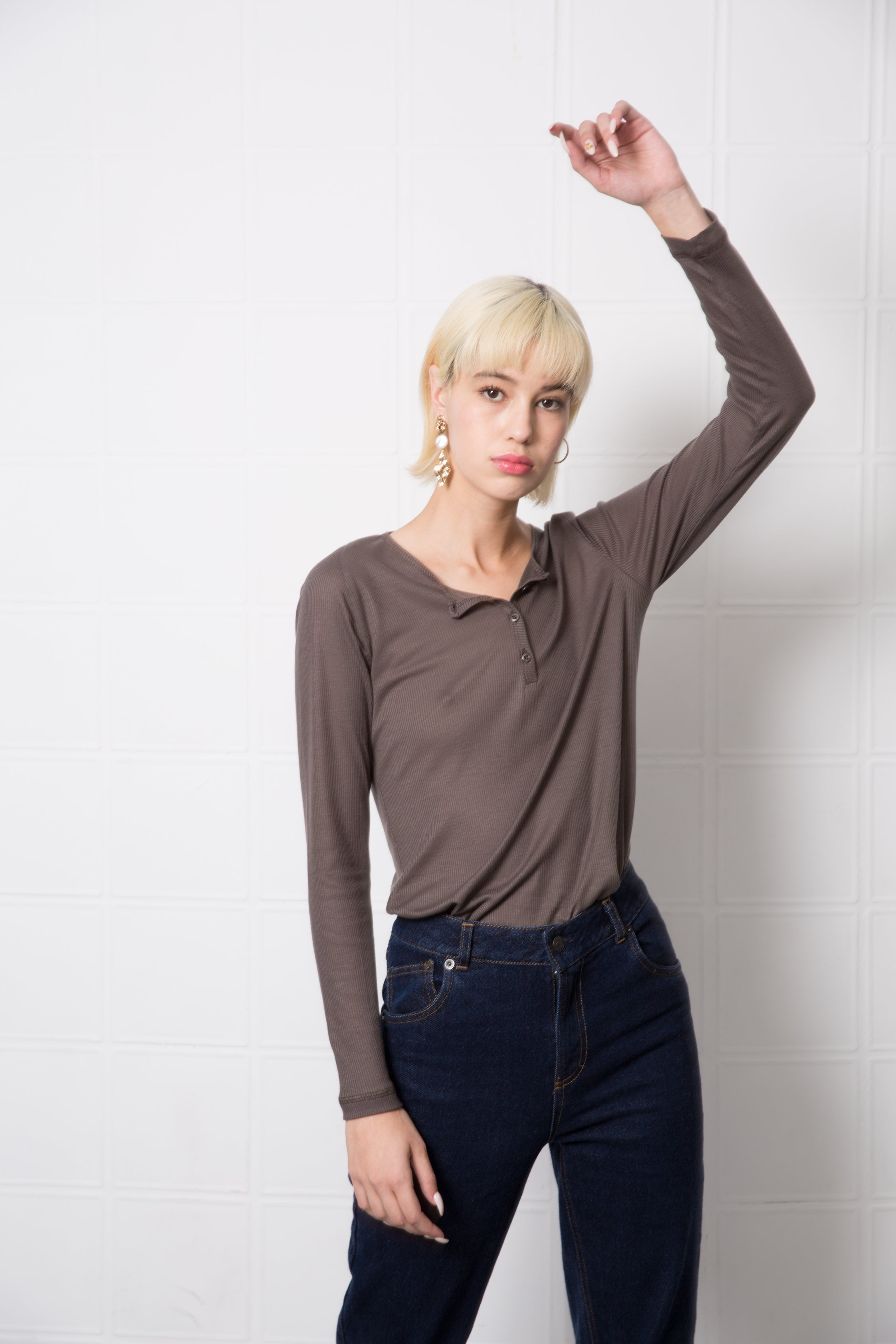MOBY Top - olive grey - heroic-online