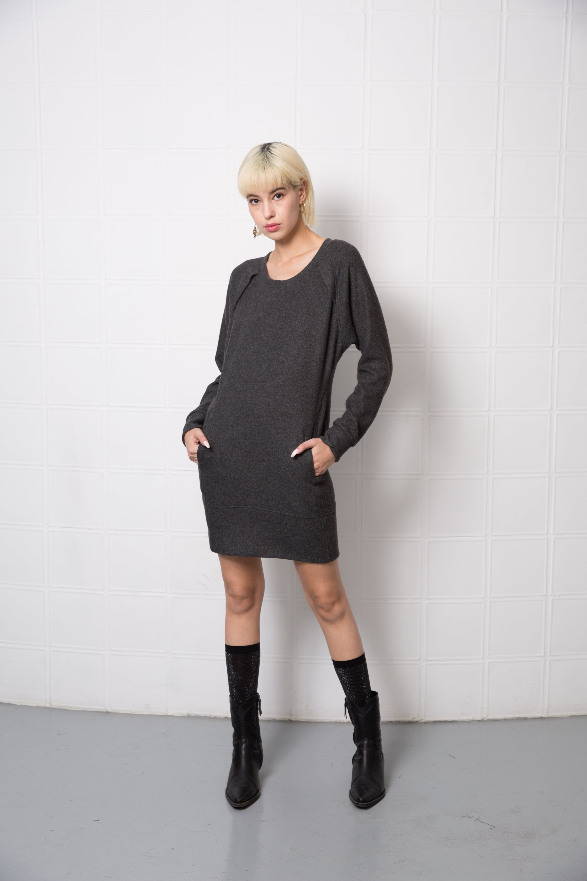 CLARIS Dress - marengo grey