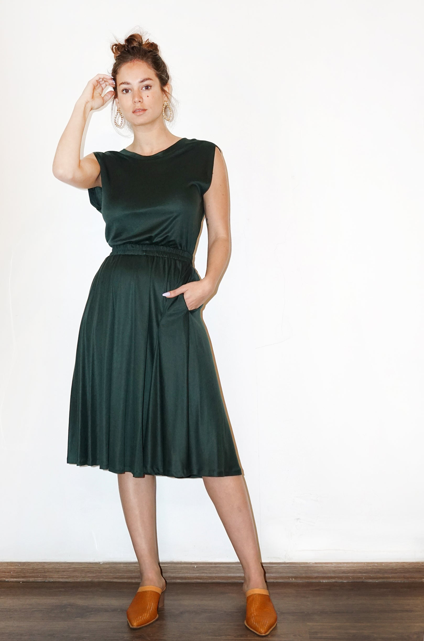 DOLLY Dress - bottle green - heroic-online