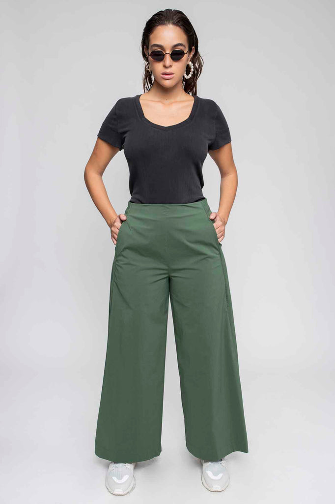 Long BRYAN pants green