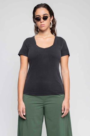JULIE t-shirt Charcoal