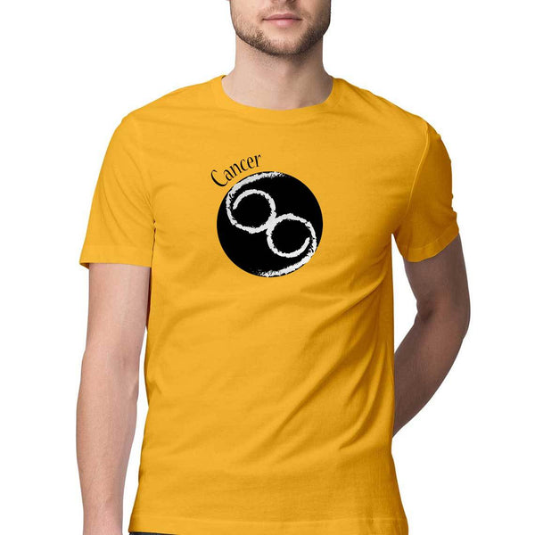 Cancer Zodiac Mens Classic Fit T-Shirt Yellow