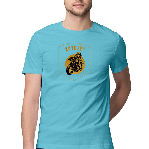 Yellow Bike Ride Mens Classic Fit T-Shirt