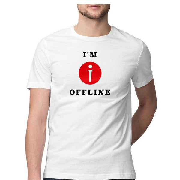 I am Offline Mens Classic Fit T-Shirt White