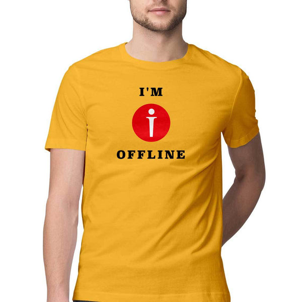 I am Offline Mens Classic Fit T-Shirt Yellow