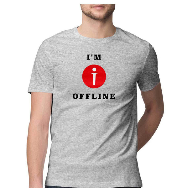 I am Offline Mens Classic Fit T-Shirt Gray