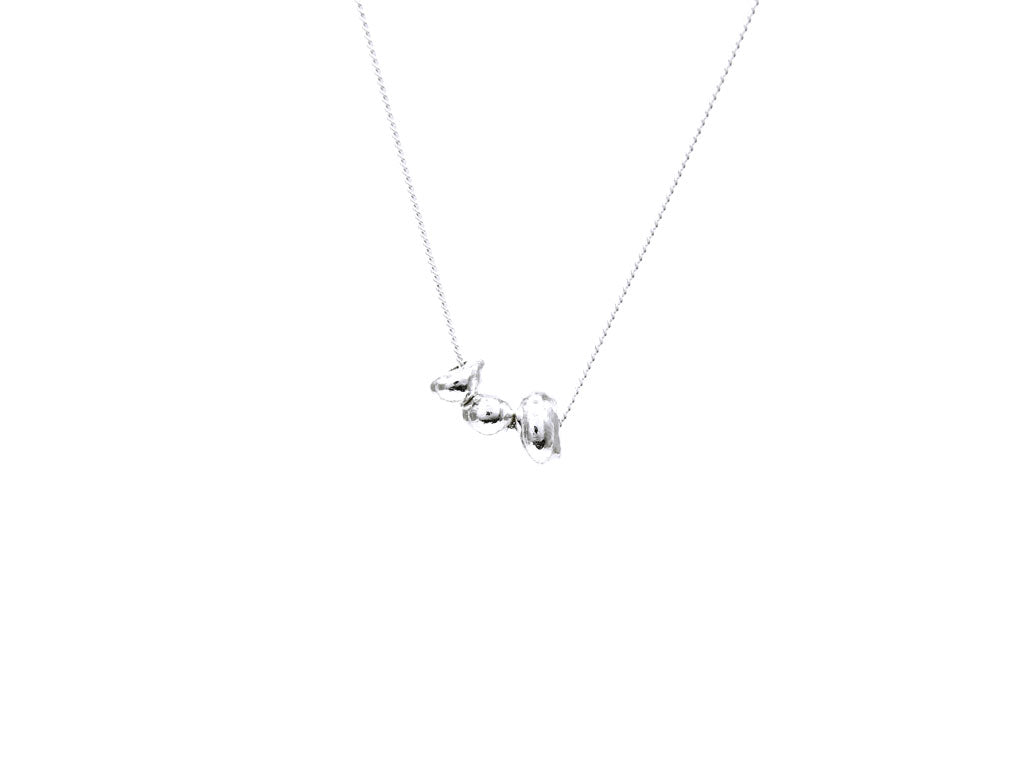 Pure silver nugget necklace 'Crude' No.6