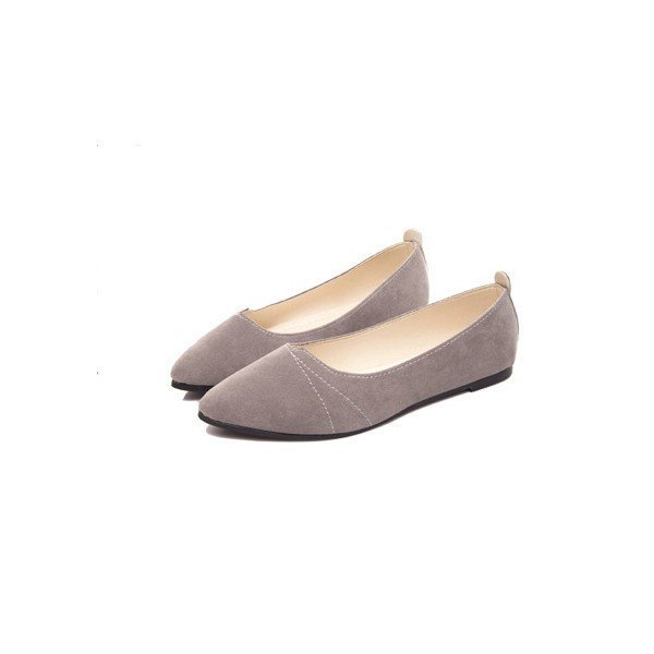 Pure Color Slip On Pointed Toe Flat Shoes