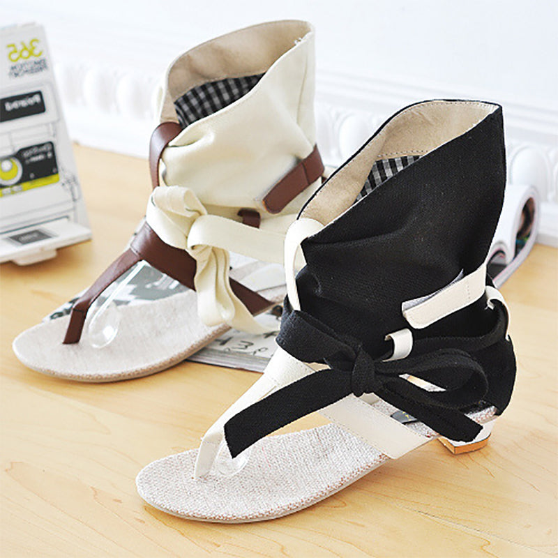 Daily Cloth Hollow-out Sandal