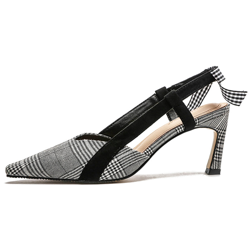 Gray Lace-up Dress Spool Heel Tie  Elegant Heels