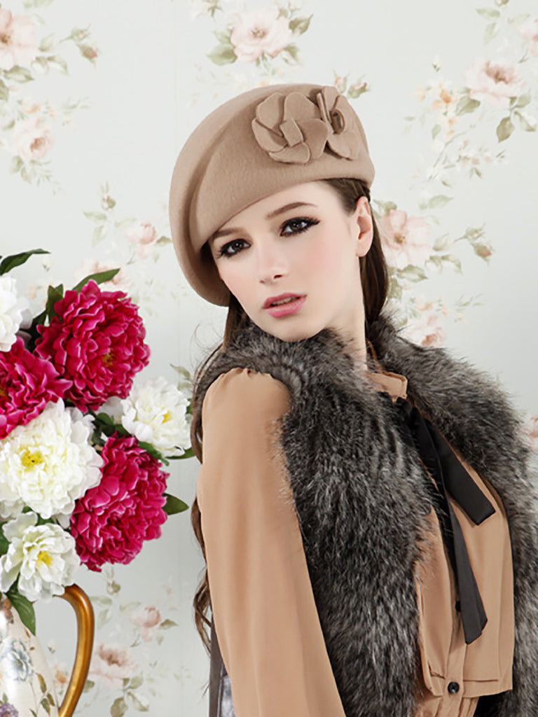 Floral Casual Polyester Hat