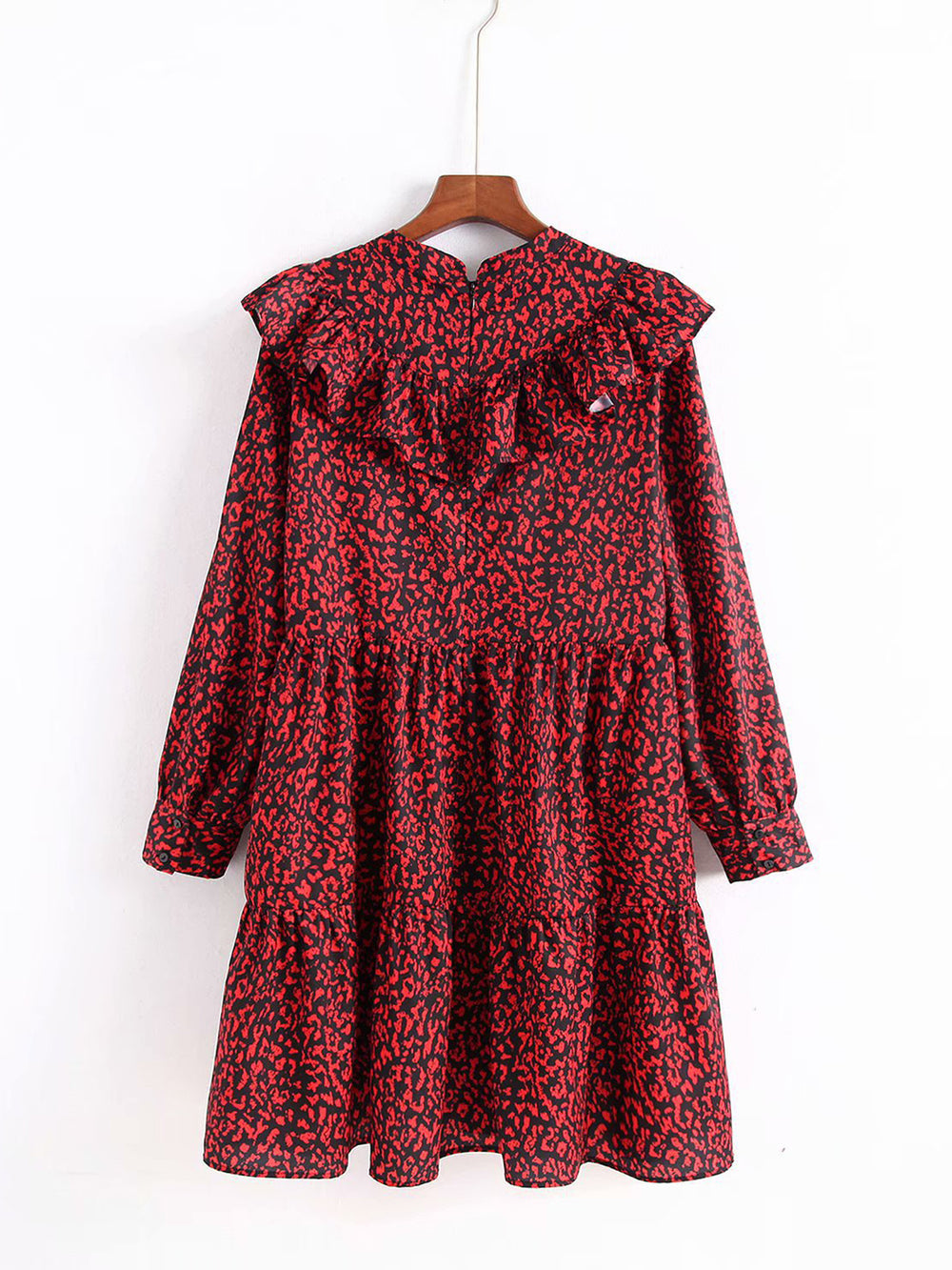 Autumn Ruffled Floral Dress