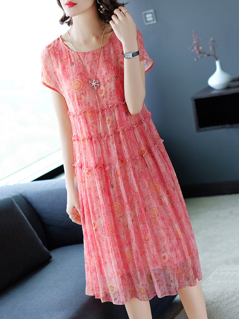 Elegant Shift Short Sleeve Dress