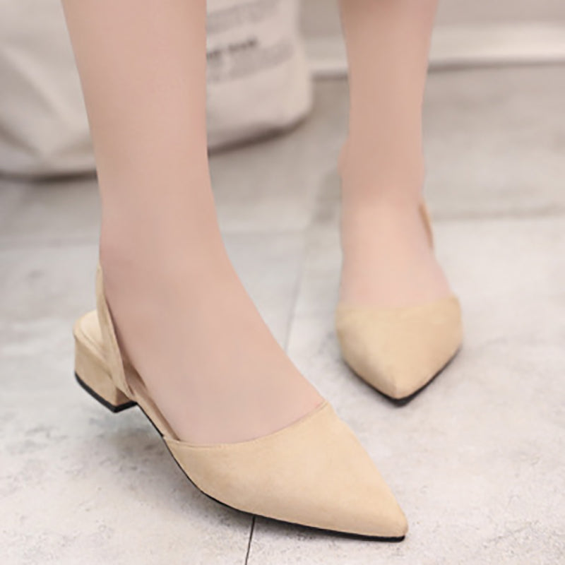 Low Heel Suede Spring/Fall Casual Pumps