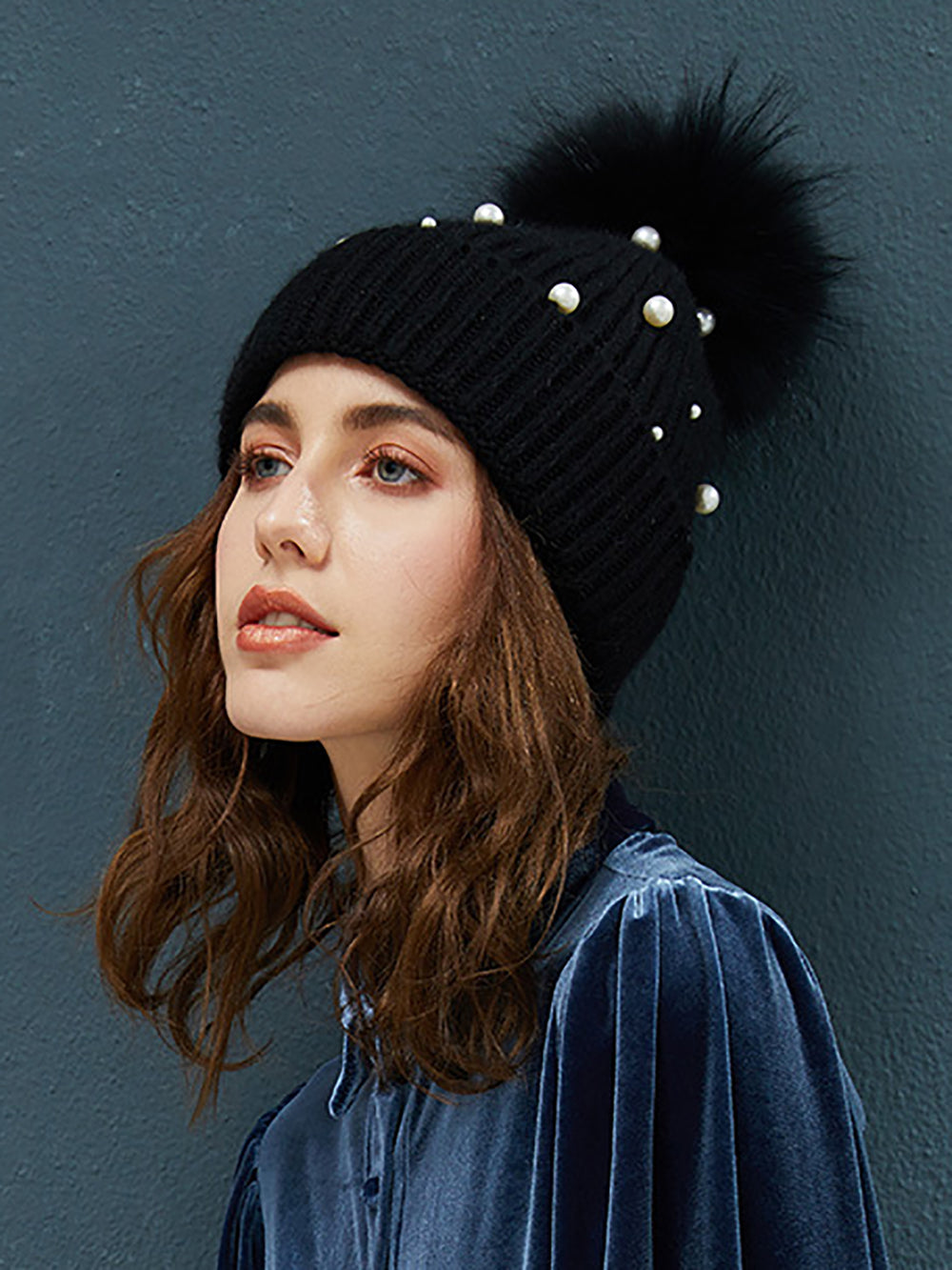 Casual Solid Pearl Knitted Hats