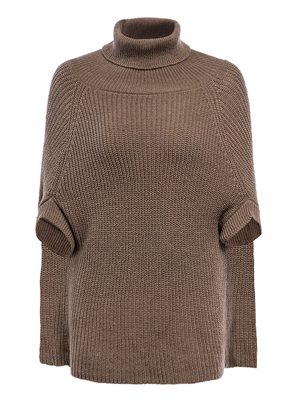 Fashion Batwing Wool Blend Loose Cloak Style Sweater