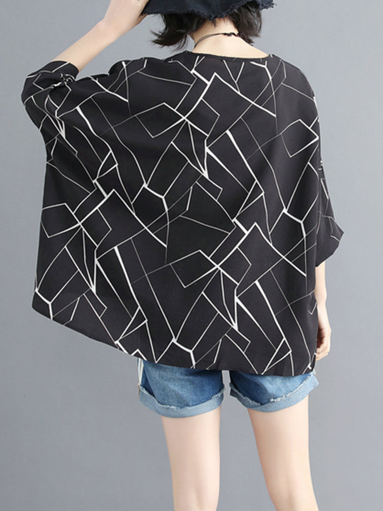 Chiffon Casual Graphic Blouses