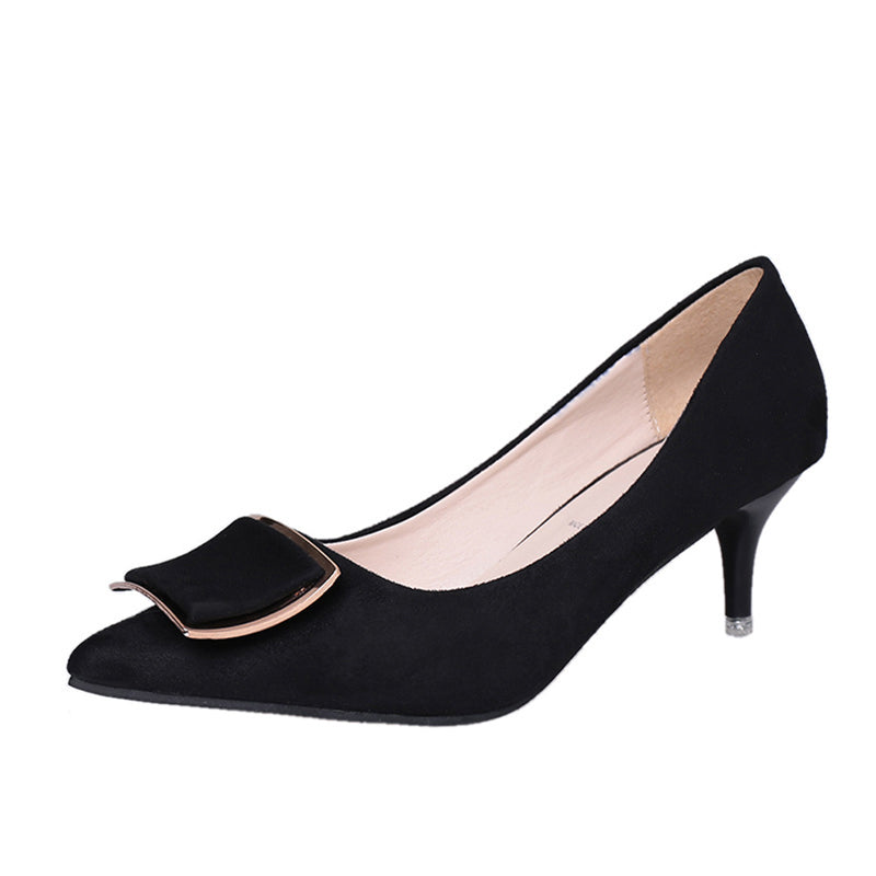 Suede Pointed Toe Stiletto Heel Women Heels